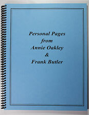 Personal Pages from Annie Oakley & Frank Butler