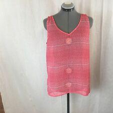 Women's GAP Pink Sleeveless Sheer Polyester Blouse Size M