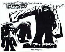 The HERCULOIDS - IGOO MODEL SHEET PRINT Hanna Barbera Alex Toth art