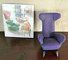 Vintage Take A Seat Raine Miniature Dollhouse Slope Wingback Chair C.1944 24023