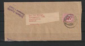 Finnland Streifband Helsingfors nach Berlin, Zensur 1918