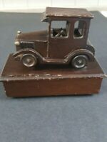 Vintage 1985 Wood Music Box Car Gerge& Good Corp. Made In Taiwan