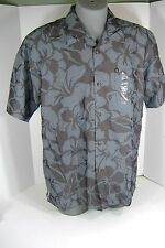New Mens Small Quiksilver Hoale Gray Rayon Dress Shirt $50