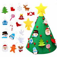 3ft Felt Christmas Tree Door Wall Hanging Xmas Ornaments Decor Children Kid Gift