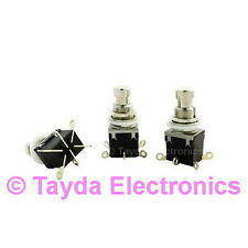 2 x 2PDT DPDT Latch Stomp Foot / Pedal Push Button Switch Solder Lugs FREE SHIP