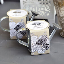 50 Watering Can Alyssum Flower Kit Eco Bridal Wedding Favors Personalized Option