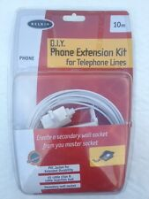 Belkin D.I.Y Phone Extension Cable Kit 10m for Home Telephone Lines Wall Socket
