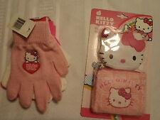 Hello Kitty 3 Pair Gloves Wallet Accessory Set Zip Coin Purse Nwt