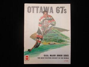 1977 Ottawa 67's vs. London Knights O.H.A Junior Series Hockey Program