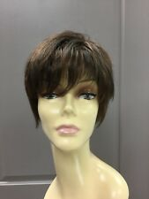 Raquel Welch CUTTING EDGE Short Pixie Lace Front Wig, R6/30H Brown + Copper HL