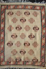 rare antique tapis kilim turc Balkans Turkish rug 163 x 126 cm