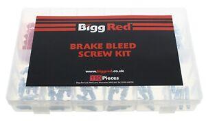 Assorted Box of Bleed screws Metric & Imperial Brake Nipple Caliper Nipples Caps