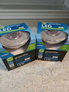 2 Greenlite Led Bulb Dusk to Dawn indoor/outdoor Auto ONOff Smart Security FLOOD