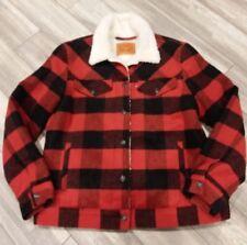 Levis  Youth Warm Winter Tartan Wool Blend Flannel Fit Jacket SZ-L