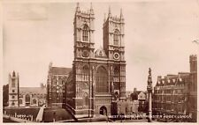 Vtg RPPC WEST TOWERS WESTMINSTER ABBEY CHURCH LONDON ENGLAND Antique Photo