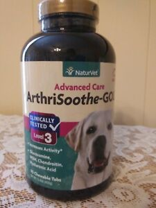 90ct NaturVet Level 3 Arthrisoothe-Gold Advanced Care Dog Chewables