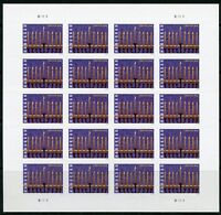 "United States 2016: ""Hanukkah"" sheet of twenty forever stamps mint nh"
