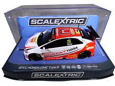 "Scalextric ""Yuasa"" BTCC Honda Civic PCR DPR W/ Lights 1/32 Scale Slot Car C3734"