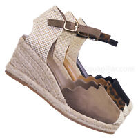 Josie01 Espadrille Round Toe Wedge - Women Closed Round Toe Canvas Heel
