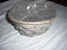 Round Wicker Basket Plastic Lined Plant Pot