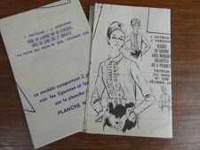 MODES & TRAVAUX /  PATRONS ROBE (No FEVRIER 1968) Patterns