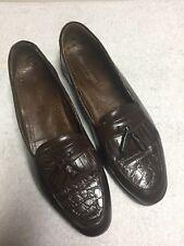 Franco Fortini Men's Brown Leather Kilt Tassel Slip On Dress Shoes Size Sz 11 M