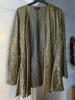 Super Collection Gold Sequined Sheer Overtop, Size 18, Event, Cruise, Christmas