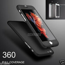 iPhone 6S Plus Ultra-Thin Full Body Hard Case + Tempered Glass Cover For Apple