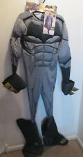 Mens Batman Vs Superman Batman Muscle Costume Halloween NWT Size M