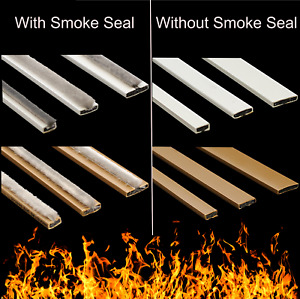 Intumescent Door Strip Seal Fire Smoke Seal Single White Brown **PACK 5x1050mm**