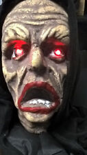 Hanging Halloween Zombie Life Sized Ghoul Horror Head with Light Up Eyes