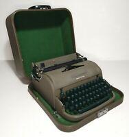 Vintage Remington Miracle Quiet Riter Typewriter W Case Clean Tested Works Great