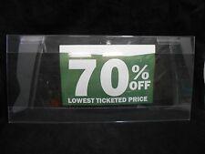 "10"" x 22"" Acrylic Slatwall Advertising Display Discounts Retail Sign Holder x4"