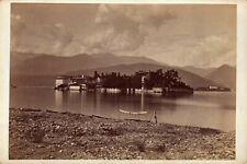 Carlo Bacmeister Stresa,Lago  Maggiere Cabinet card  (cdv)  ALBUMEN 1880