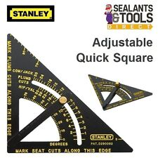 Stanley HD 170mm Adjustable Quick Square Layout Tool 46-053 Roofing Carpenters