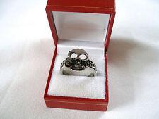 MENS- Two Tone Stainless Steel 'Skull' Ring
