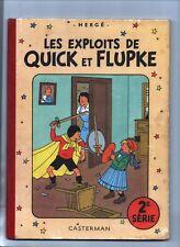 Hergé - QUICK ET FLUPKE 2e série COULEURS. B7 - 1952. Superbe état