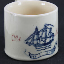 Vintage OLD SPICE Shaving Mug Ship FRIENDSHIP, Hull Pottery #3 Mug 1944-50's