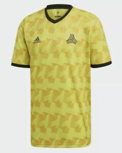$50 Adidas Tango AOP Soccer Jersey Men's Sz LARGE Yellow DX2328 NWT