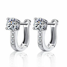 Silver Plated Hoop Earrings Cheap Gemstone Jewelry Earring Fashion White Women h