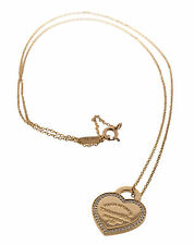 Tiffany & Co. Return to Tiffany 18k Yellow Gold Heart Tag W/diamonds $1700 MSRP