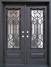 Wrought Iron Door, Doors W/ Iron Works Oper-able Glass Panel FL-IRON7101S-IW01