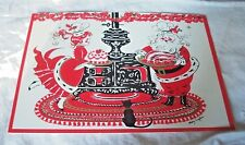 VINTAGE SWEEDISH CHRISTMAS GINGER SNAPS RECIPE CARD ART PRINT MARY CRAFTON