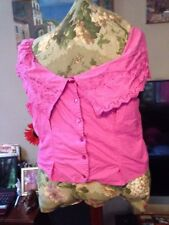 Hot Pink Off Shoulder Size L Malu Malu Blouse