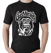 Camiseta motera manga corta Gas Monkey motos Mono Chimpancé Garage hombre