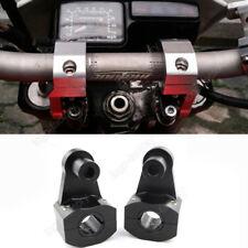 "Motorcycle HandleBar Handle Fat Bar Mount Clamps Riser Universal 7/8"" 22mm &28mm"
