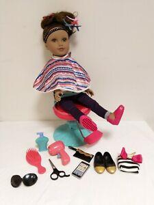 Journey GirlsDoll & adjustable salon chair  accessories bundle Hairdressers toy