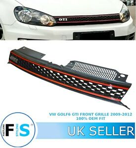 VW GOLF MK6 2009-13 BADGELESS GTI STYLE HONEYCOMB FRONT RADIATOR BUMPER GRILLE