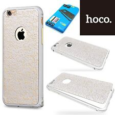 Hoco Blade Aluminum Bumper & Leather Sticker Case Cover  iPhone 6S Plus - Silver