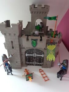 PLAYMOBIL Wolf knights Castle 6002 with  figures accessories bundle toy kids
